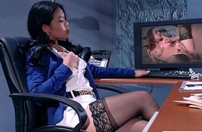 Pulchritudinous Girl (Cindy Starfall) With Big Round Boobs Succeed in Sex In Office mov-20
