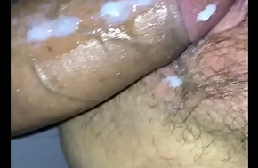 fucked giving creampie passion in the brush pussy