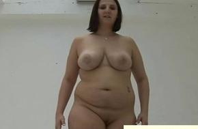Unusual fat maid gives femdom pov tugjob