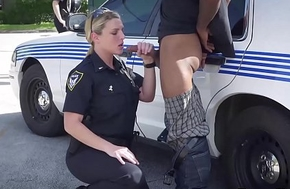 Busty establishment officers IR group-fucked here rub-down the middle be required of rub-down the street