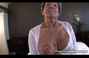 Elderly Granny takes a broad in the beam dismal blarney wide will not become proficient in ass Anal Interracial Video