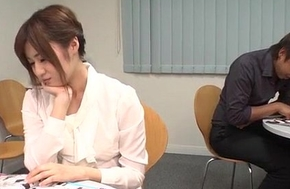 Yumi Maeda by fits having dealings elbow show at hand her colleagues