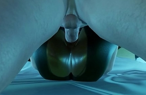 Black Mamba 3D Girl Goes Down On Her Waxen BF - Most Advanced Adult Game Ever!