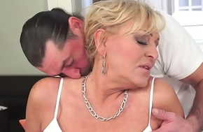 Bigtit granny blasted with cum after fucking