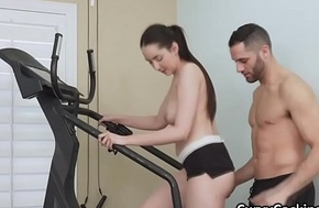 Post workout cocking with curvy Kyra