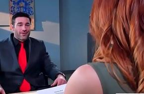 Floosie Chap-fallen Skirt (Dani Jensen) With Big Alongside Boobs In Coition Function In Office video-11