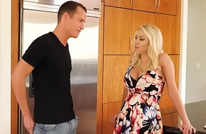 Chunky titties MILF Katie Morgan fucks a young broad in the beam detect - Naughty America