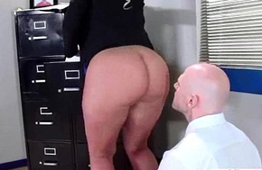 Hard Sex Action With Slut Big Tits Office Unshaded (julie cash) video-21