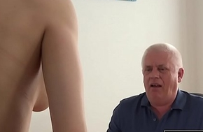 Young Girl Fucked wide of Age-old Man Take Office Deepthroat Blowjob with an increment of Cumshot