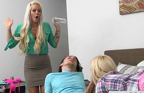 Gorgeours Stepmom Sneaks Take a Young Couple - Holly Heart, Aubrey Gold