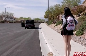 Young Assuming Cram Girl Marley Brinx Flavour of the month Up By School And Taken To Hotel To Fuck