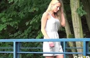 Got2Pee - Public pissing for pulchritudinous blonde with long hair